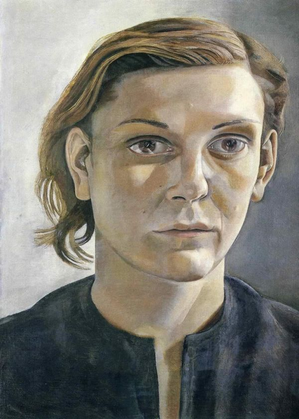 Lucian Freud: Girl in dark dress (1951)
