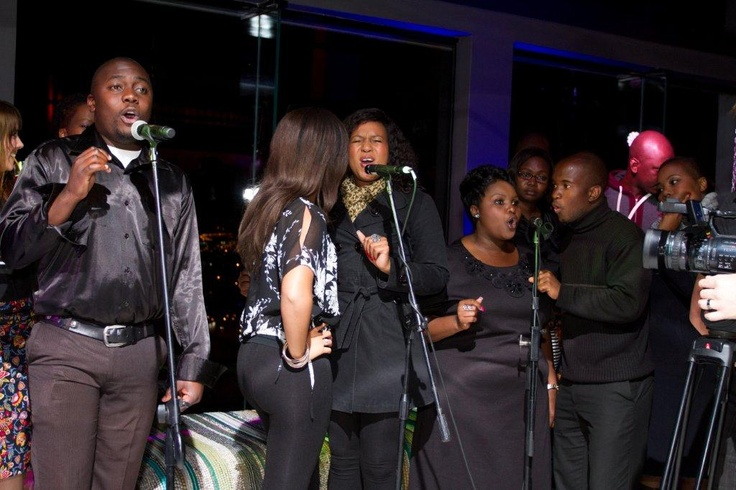 Gospel Choir at the launch of the Morongwa House of African fashion. www.mhafricanfashion.co.za