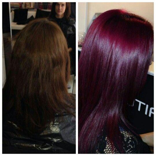 Red Violet Hair On Pinterest Violet Hair Violet Hair