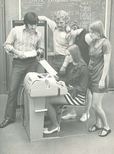 1972. Programming punch cards.
