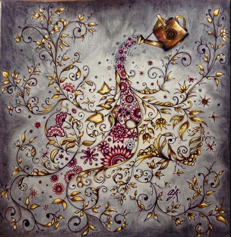 mysecretgardencoloringcolouring sieh dir dieses instagram foto von royalcolouring an gefllt 184 mal - My Secret Garden Coloring Book