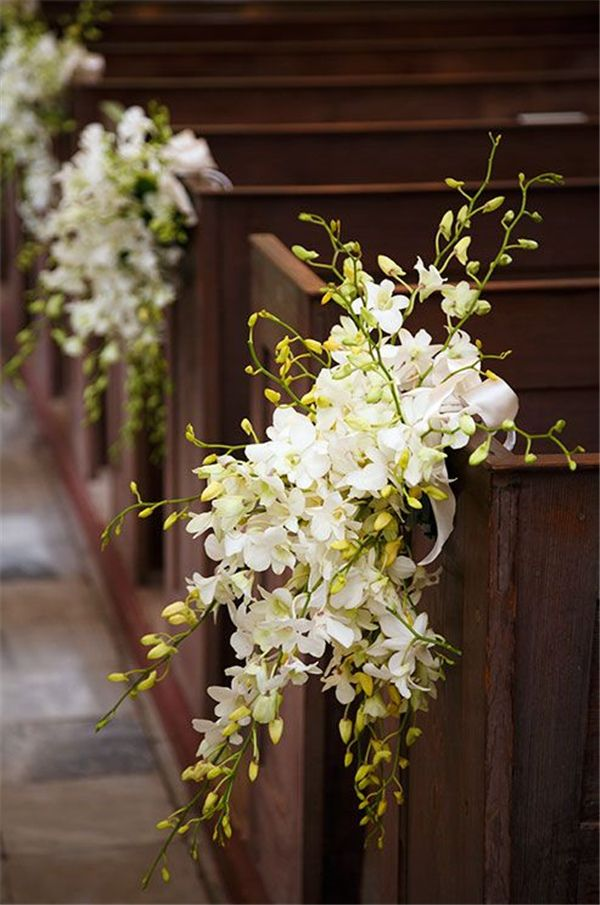Best 25 church aisle decorations ideas on pinterest pew for Aisle wedding decoration ideas