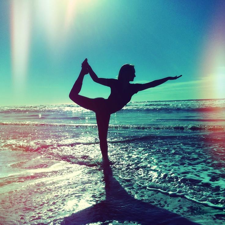 beach yoga #SunSandSea