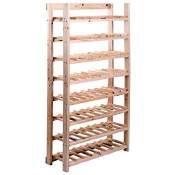 Amazon.com - HomCom Classic Rustic Wood 8-Tier 120-Bottle Wooden Wine Rack -