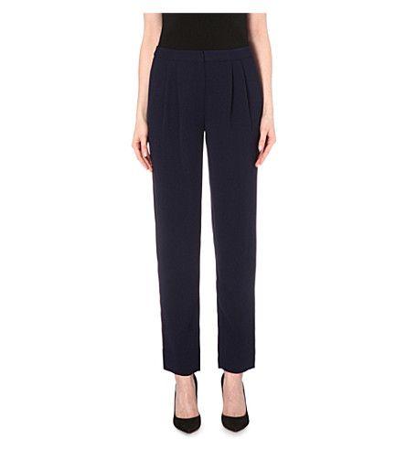 DIANE VON FURSTENBERG - Leni crepe trousers   Selfridges.com