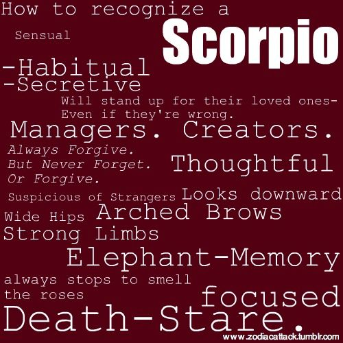 Scorpio personality trait