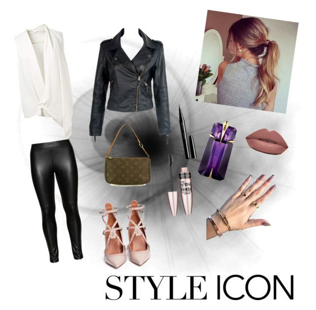 we rock the world by kidoulini on Polyvore featuring polyvore, fashion, style, Victoria Beckham, Valentino, Louis Vuitton, Maybelline, Studio, Marc Jacobs and Thierry Mugler