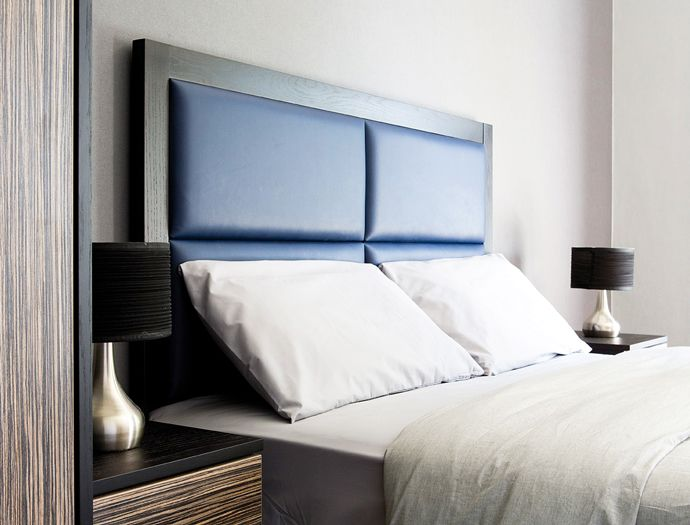 41 best images about b e d s on pinterest bed in for Masculine headboards