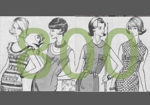 La barre des 800 patrons et tutos de couture gratuits, listés sur Pop Couture, a été franchie !