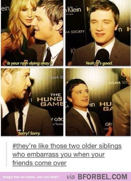 J.Law and Josh Hutcherson will make the perfect older siblings