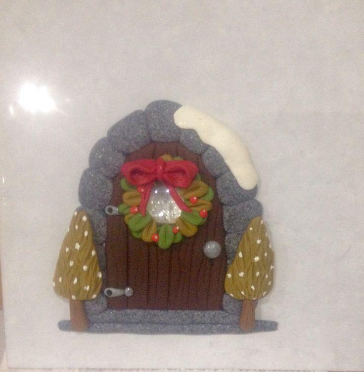 Christmas fairy door tree decoration