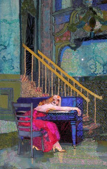 Depressie, textile art by Colette Berends (Netherlands)