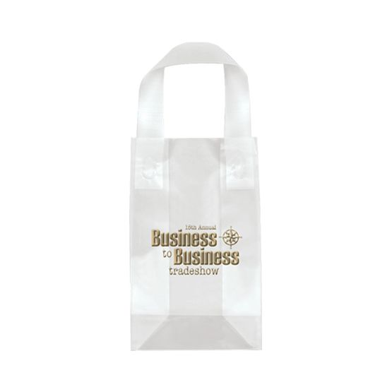 """Frosted Shopping Plastic Bag 5"""" x 8"""" x 3"""""""