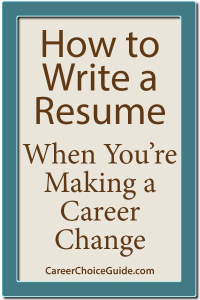 How to write a career change resume
