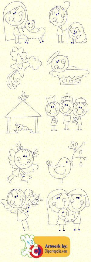 dibujos fáciles para Navidad