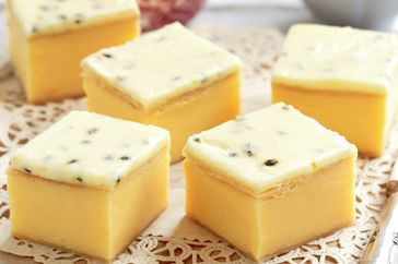 Satisfy your sweet tooth with this passionfruit, vanilla slice.