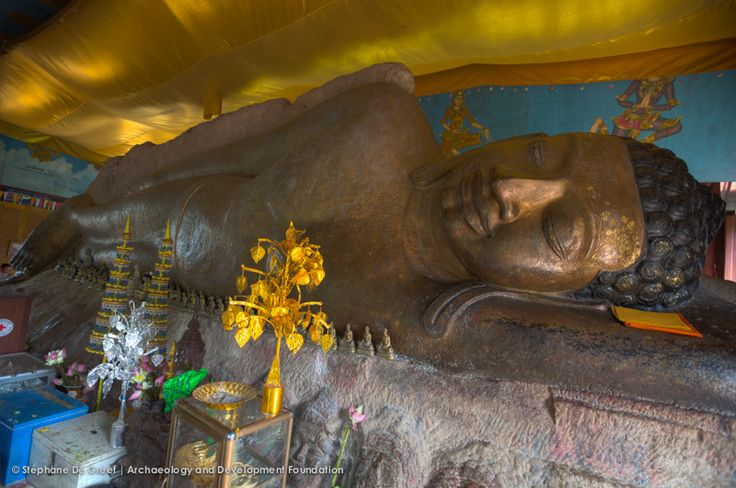 large reclining Buddha in Wat Preah Ang Thom in Phnom Kulen national park, north of Siem Reap