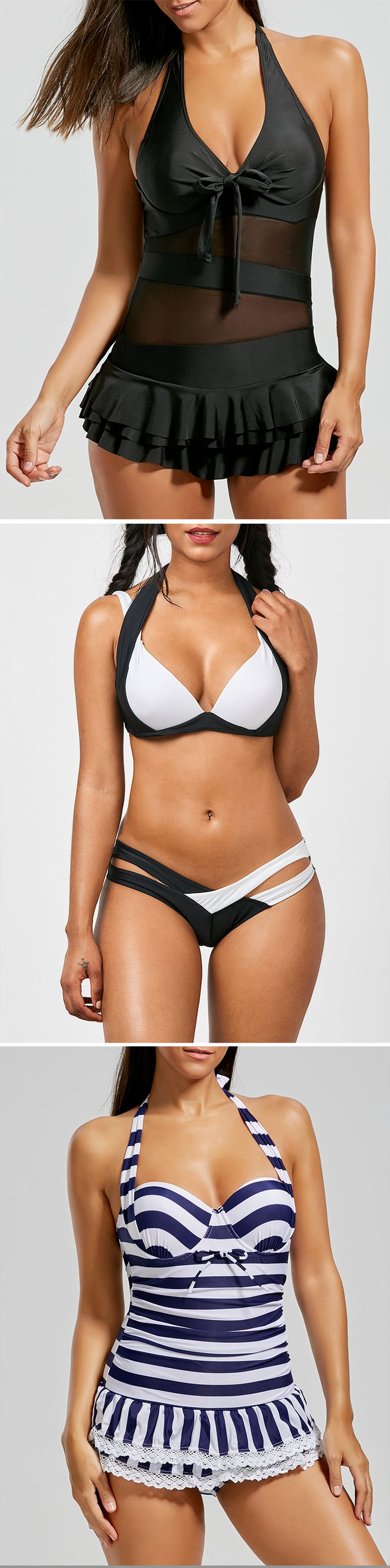Best-Selling Swimwear Starting at $1.99 | Sammydress.com | #swimwear #bikini #tankini