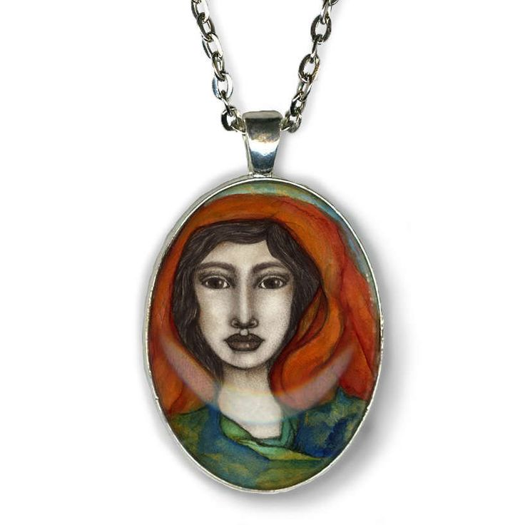 Statement necklace - Freyja Goddess - Goddess Jewelry - Goddess Art - Norse Goddess - Norse mythology - girlfriend gift necklace - boho chic by OlivosARTstudio on Etsy