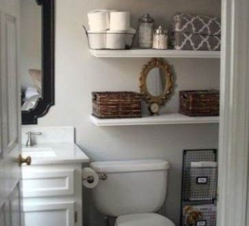 Small bathroom ideas | Fashion's Most Wanted - shelves above toilet