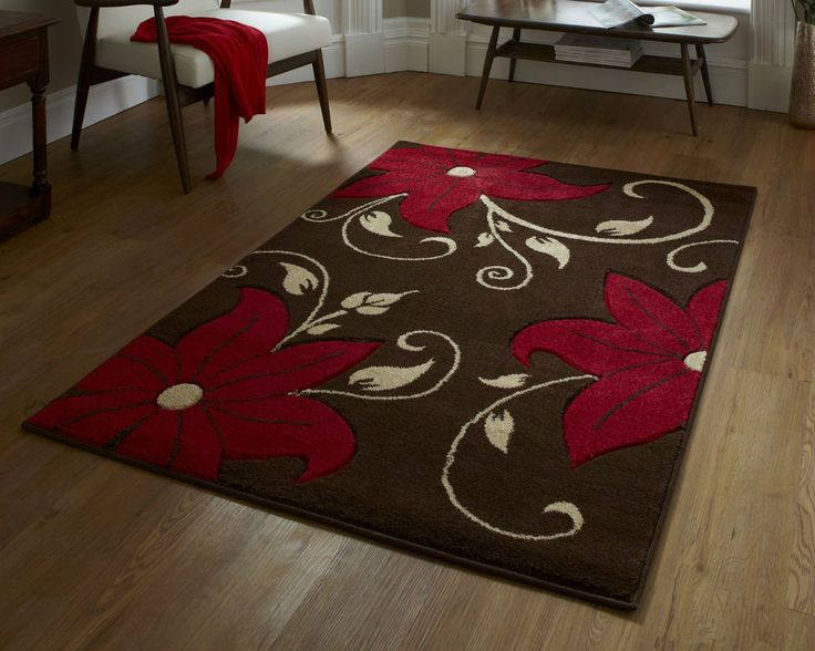 For High Quality Rugs At Great Prices The Verona Modern Rug Brown Red A Price And Get Free Fast Delivery