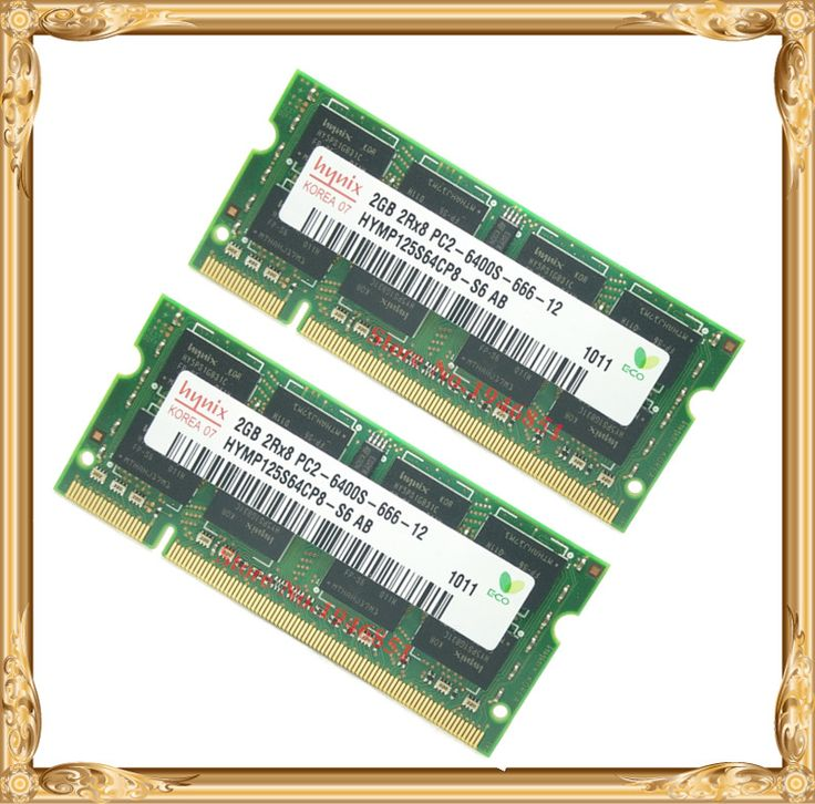 Notebook memory For Hynix DDR2 4GB 2x2GB 800MHz PC2-6400 800 laptop RAM 6400S 2G Free
