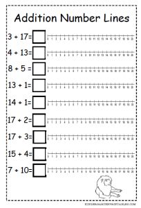 Addition Number Lines - 2nd Grade img