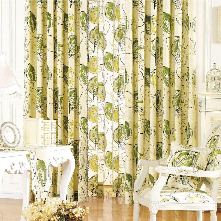 Floral Country Green Energy saving Curtains   #curtains #decor #homedecor #homeinterior #green