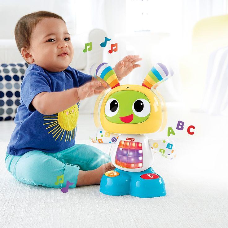 """Robi Robot, un divertido y colorido robot para los más pequeños. Incluye 3 opciones de juego (""""¡A bailar!"""", """"Aprendizaje y juegos"""" y """"Graba y remezcla"""") que se adaptan al crecimiento del niño."""