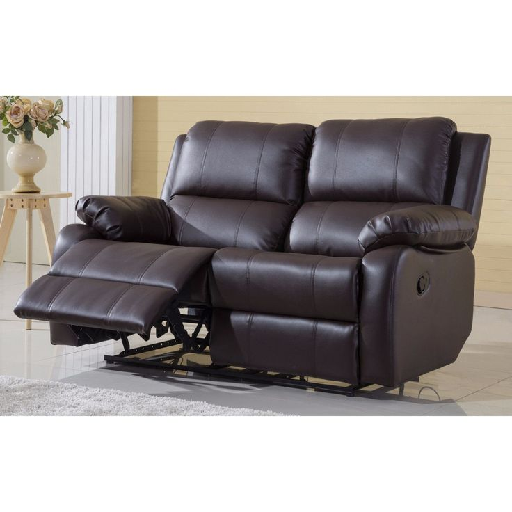 Madison Classic Bonded Leather Oversize Double Recliner Loveseat (Brown) (Fabric)  sc 1 st  Pinterest & Best 25+ Double recliner loveseat ideas on Pinterest | Reclining ... islam-shia.org