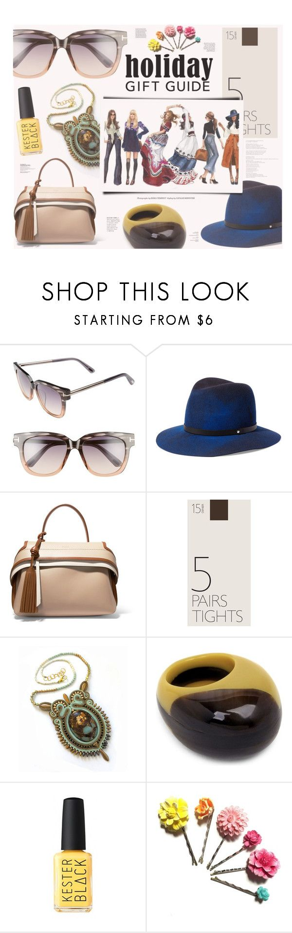 """Holiday Gift Guide: Your Squad"" by katarina-blagojevic ❤ liked on Polyvore featuring Tom Ford, rag & bone, Tod's, John Lewis, Marni, Tarina Tarantino, hats, ring, sunglasses and handbag"