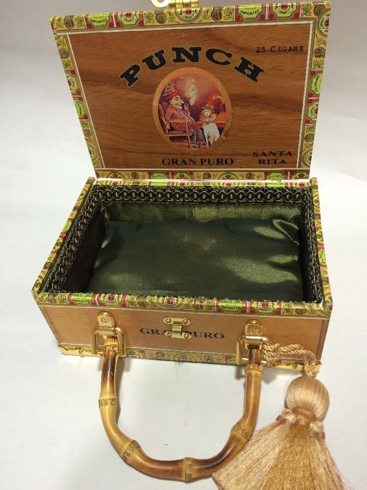 Cigar Box Purse - Punch #Handmade #Satchel