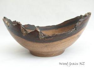 natural edge walnut bowl