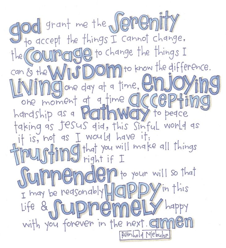 19 Best Images About Recovery Serenity Prayer On