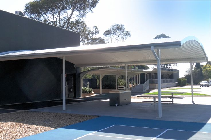 Ritek Curved Roof ideal for outdoor areas in educational facilities.