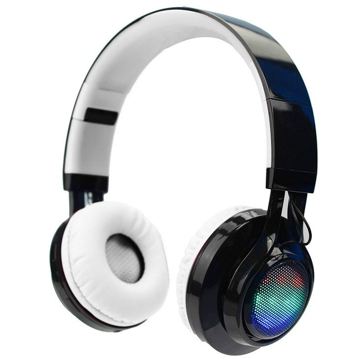 Super Bass Foldable Luminous Cordless Headphones With Mic Lights Sports Stereo Bluetooth wireless Headset With FM Radio TF Card