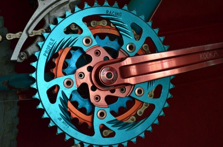 Kooka Profile Racing triple crankset.