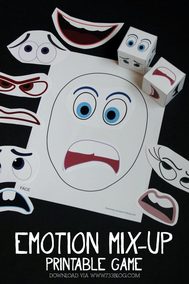 Printable Emotions Game to go with Inside Out http://www.733blog.com/2015/07/printable-emotions-mix-up-game/