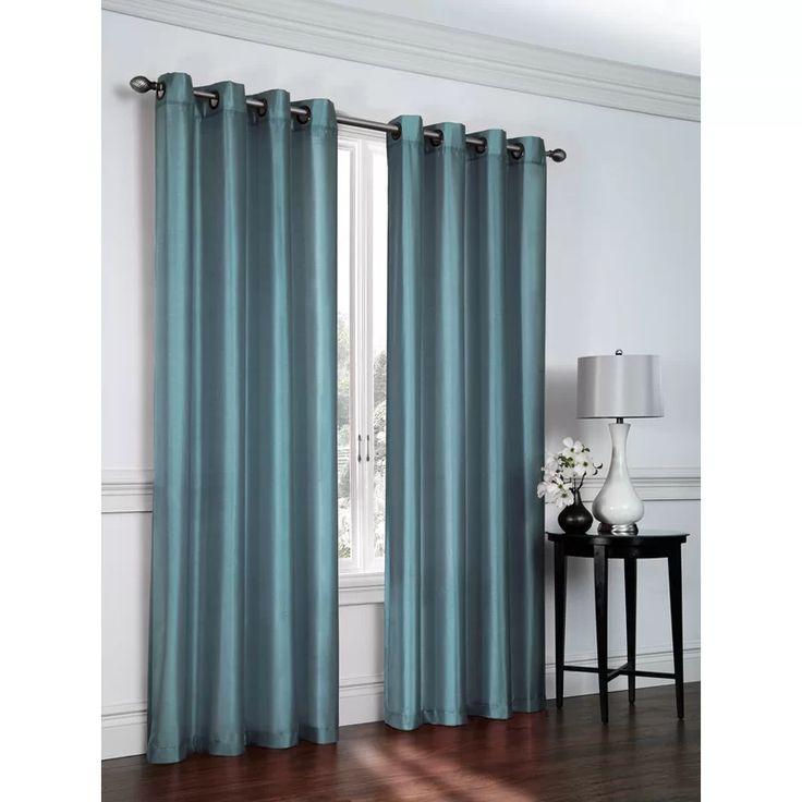 Belterra Faux Silk Sheer Grommet Curtain Panels
