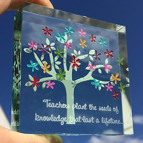 A delightful gift that was based on a personalised gift we loved so much we decided to make it part of our collection. #Inspiration #Gift #Love #Teacher #Custom #Made #Spaceform #London