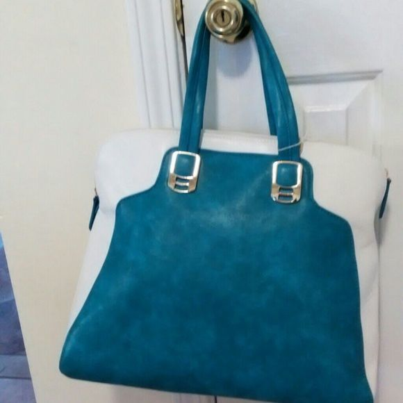 Blue and white purse Blue and white leather like purse Bags Shoulder Bags