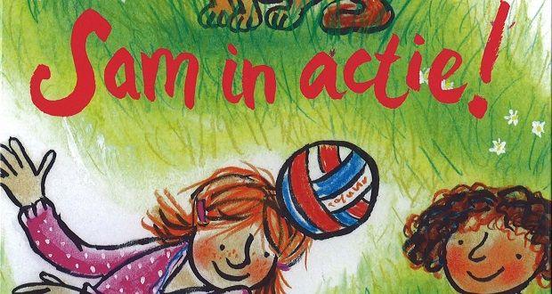 Sam in actie is een boek geschikt voor toneellezen AVI-E5. Kinderen kunnen dit samen, hardop lezen. Ik schreef mini leeslessen bij dit boek, lees ze hier.