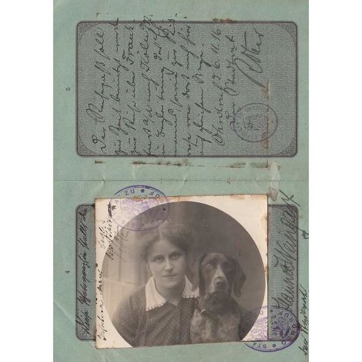 In Duchy Saxe-Coburg-Gotha in the German Empire in 1916 you could have your passport photo taken with your dog. (Image: Tom Topol) (via @qikipedia)