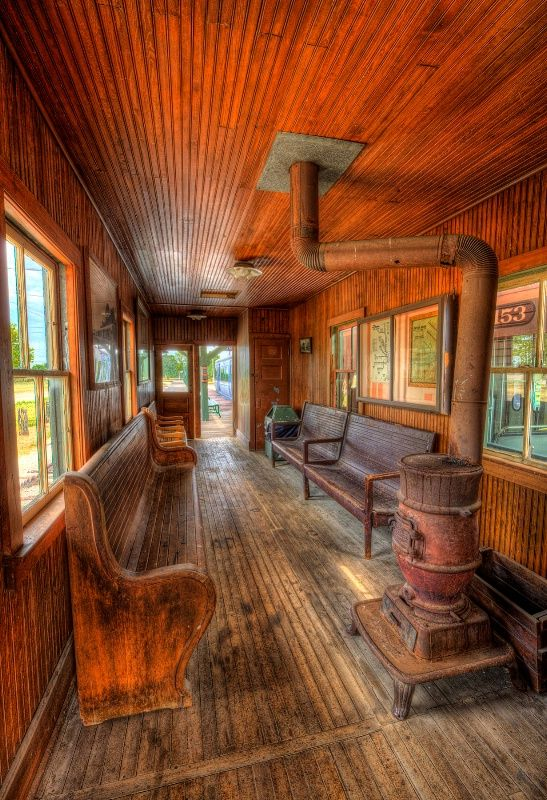 Old Train Station: this so cool. Always wanted to covert an old station into a home.