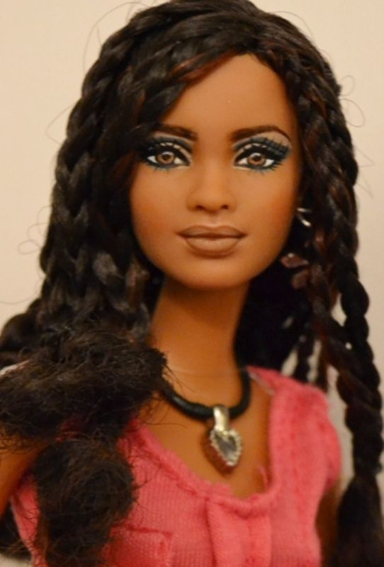 Isla- (pronounced Ees-lah) SIS Trichelle Repaint OOAK Barbie by Doll Anatomy
