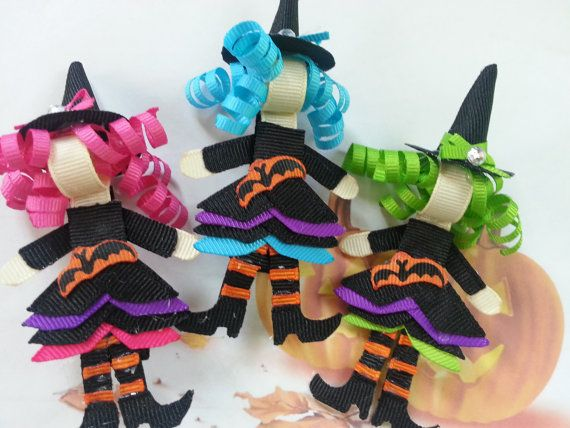 Witch Ribbon Sculpture Hair Clip