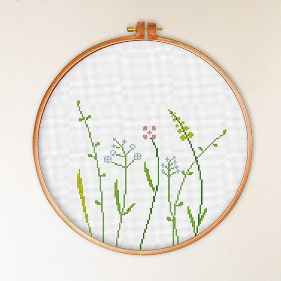 Hey, I found this really awesome Etsy listing at https://www.etsy.com/listing/240014457/wildflowers-cross-stitch-pattern-modern