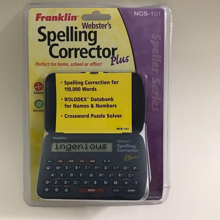 FRANKLIN NCS-101 Spelling Corrector Plus Electronic SEALED 1999  | eBay