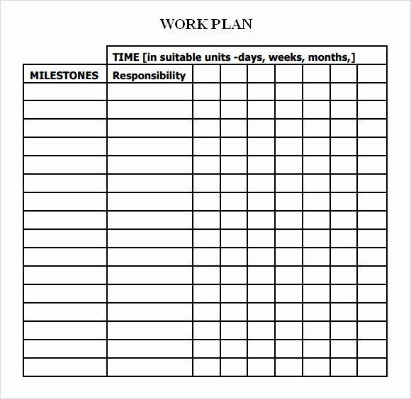 Work Plan Template Excel Unique Work Plan Template 13 Download Fr