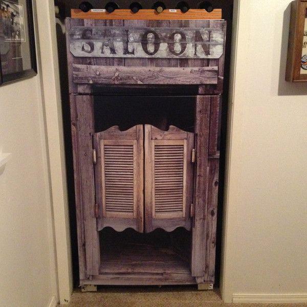 Saloon door Refrigerator wrap This is a premium vinyl ...
